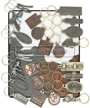 Custom Antique Finish Key Tags