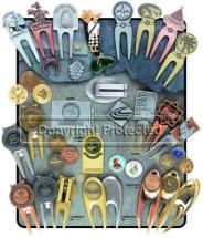 Custom Zinc Divot Tools