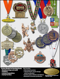 Flyer with Photos of Custom Medals