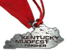 Mud Run medal - Also has Christmas Ornament string