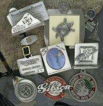 Custom Pewter Picture Frames, Pewter Pen Holders, Medals & Awards