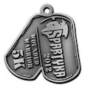 Drawing of Triathlon Medal