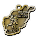 Drawing of Triathlon Participant medal