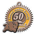 Drawing of Triathlon Finisher medallion
