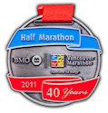 Sample Running Marathon Participant medal