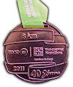 Example of Running Marathon Participant medal
