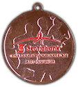 Sample Half Marathon Participant medal