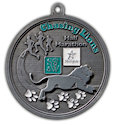 Drawing of Running Marathon Participant medal