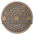 Example of Running Marathon Medal