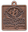 Sample Marathon Finisher medallion