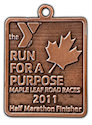 Example of Half Marathon Finisher medallion