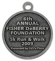 Example of Marathon Finisher medallion