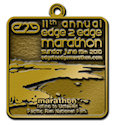 Drawing of 26.2 Finisher medallion