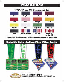 Quick Reference Flyer of Standard Ribbon Colors