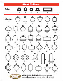 Quick Reference Flyer of Sample Shapes and Tabs